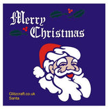 Santa Stencil for Christmas Cards and Crafts