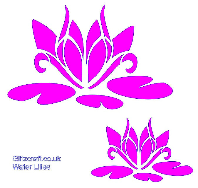 Water Lily Stencil Black And White: Water Lilies Stencil