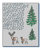 Layering Trees and Deer Stencil