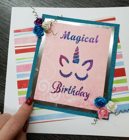 Magical Unicorn Birthday Stencil