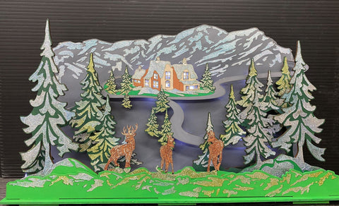 MDF Deer Mountain - Christmas Decoration or Table top Decoration