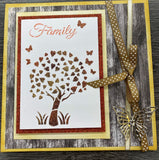 Family Tree Floral Collection Stencils