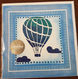 Card made by glitz craft with glitter paste using Hot Air Balloon Stencil