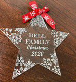 Star Acrylic Bauble - personalised