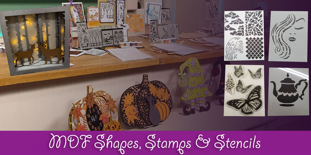 MDF Shapes Stamps and Stencils