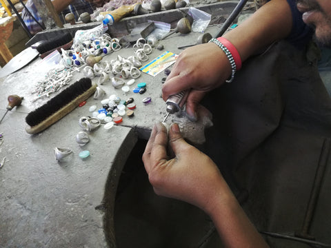 Jewellery making in the workshop