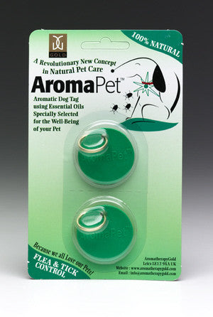 Aromatherapy Flea Control Dog Tags