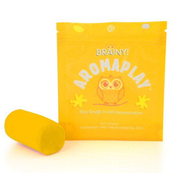 aroma play dough yellow with grapefruit and lemon essential oils
