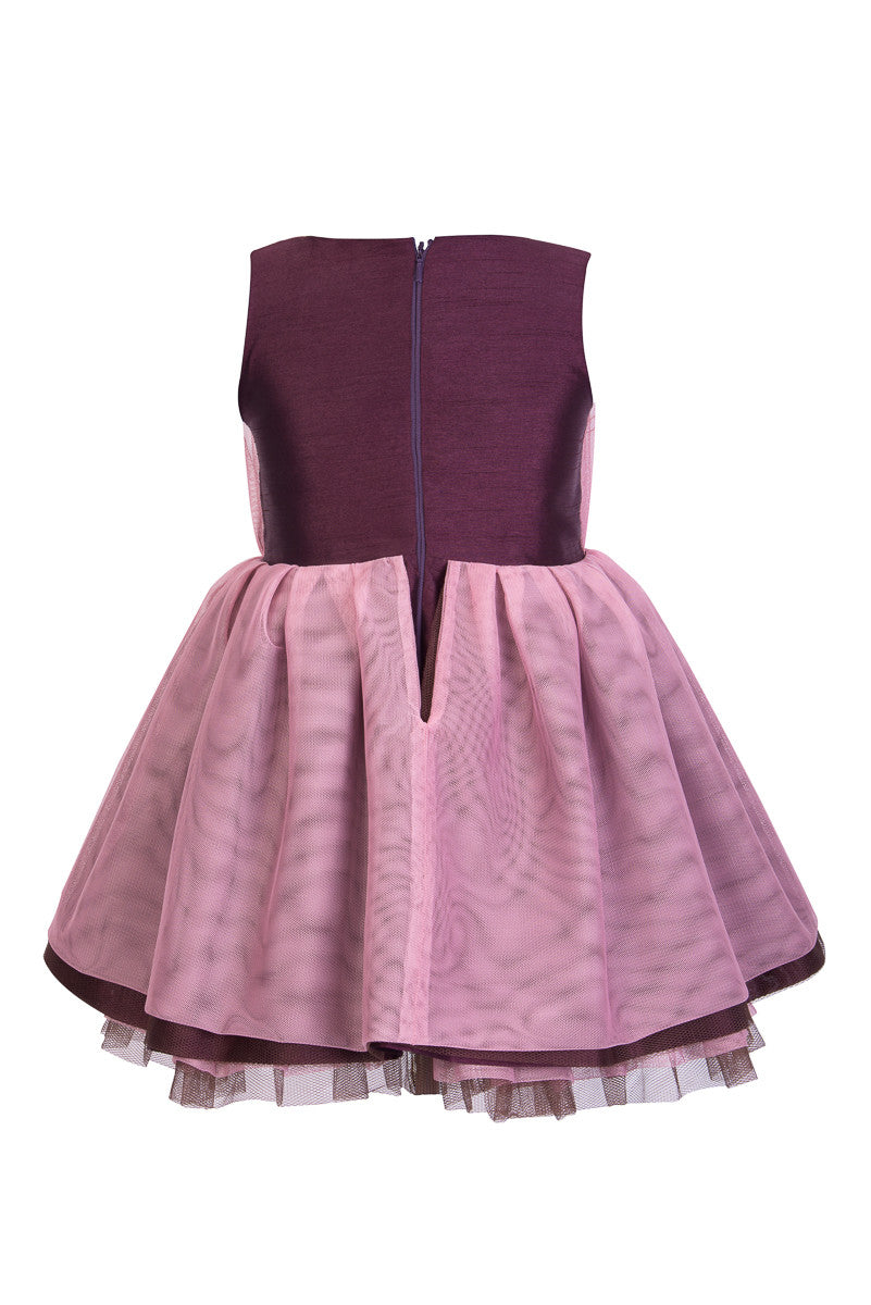 Purple and Brown Kids Dress - Steveus Fashion & Beauty - 2