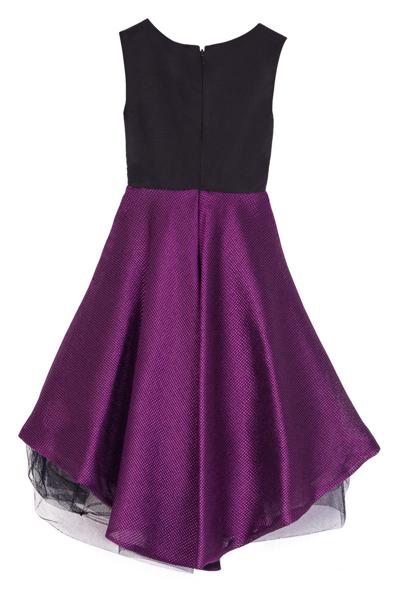 Black and Purple Prom Dress - Steveus Fashion & Beauty - 2