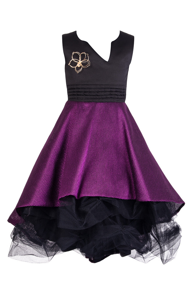 Black and Purple Prom Dress - Steveus Fashion & Beauty - 1