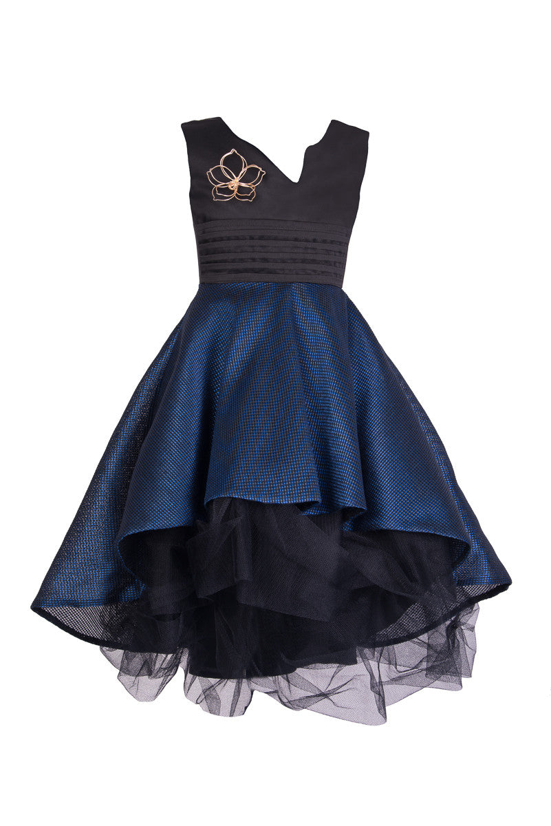 Black and Blue Prom Dress - Steveus Fashion & Beauty - 1