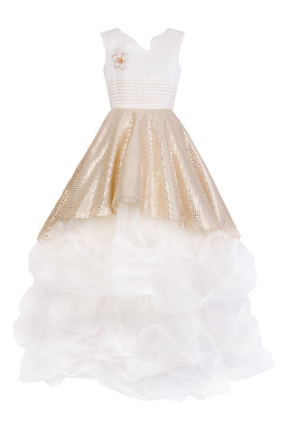 Golden Prom Dress - Steveus Fashion & Beauty - 1