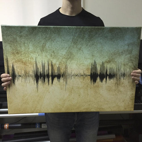 Soundwave Art - Grunge - Kanvas Dükkanı