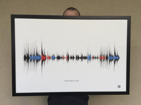 Soundwave Art - Colorful - Kanvas Dükkanı