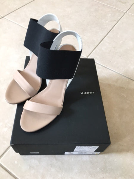 Vince Gaudin Exaggerated Elastic Colorblock Sandals Size 9 1/2