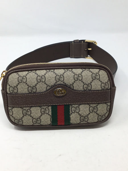GUCCI OPHIDIA GG SUPREME BELT BAG