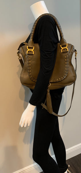 CHLOE MARCIE MEDIUM STUDDED SATCHEL