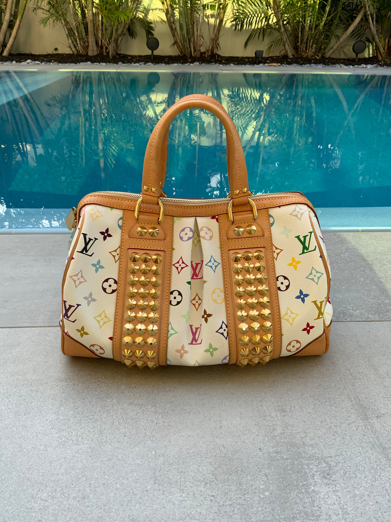 LOUIS VUITTON WHITE MULTICOLORE COURTNEY MM BAG