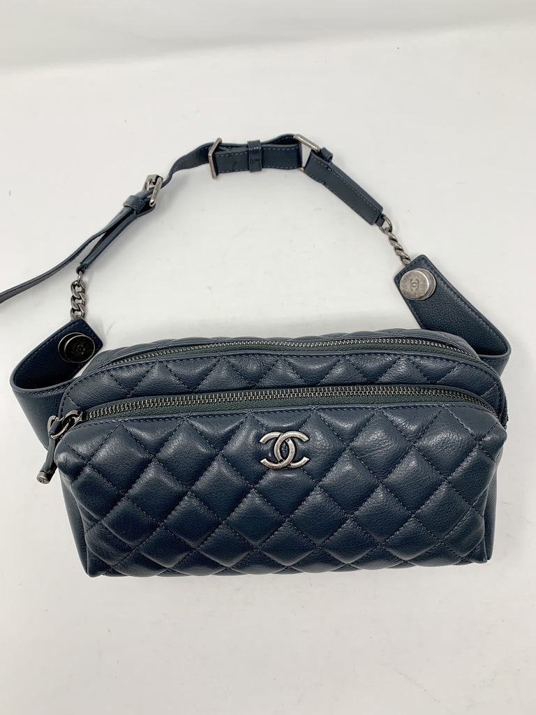 CHANEL 2018 QUILTED STREET CC WAIST BAG
