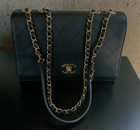 CHANEL 3 COMPARTMENT QUILTED FLAP BAG