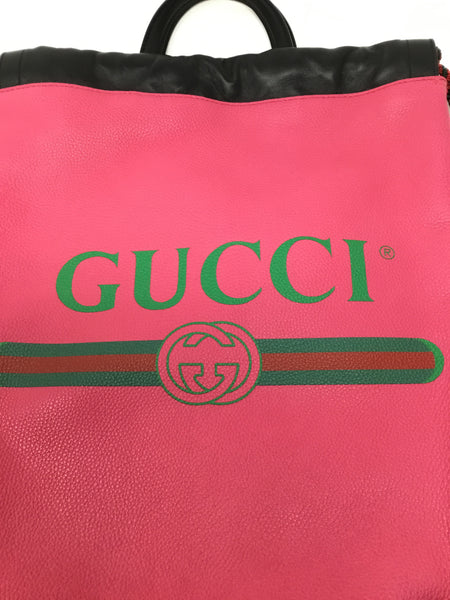 GUCCI LOGO DRAWSTRING BACKPACK