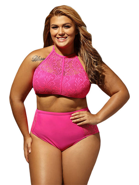 NEW 2 Piece Mesh Swimsuit (L to 4XL) - 5 Colors