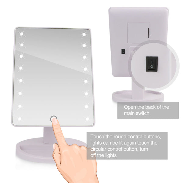 360 Degree Rotation Touch Screen Makeup Mirror **SALE 50% OFF**