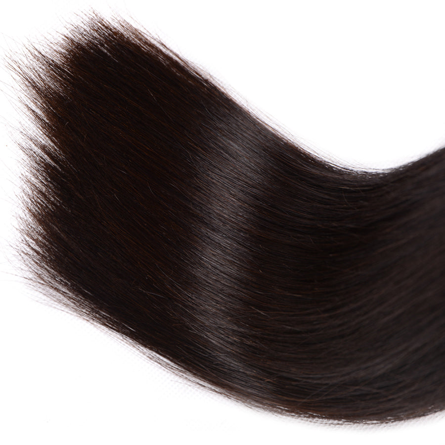 Peruvian Straight Hair Double Weft Non Remy Hair Natural Color