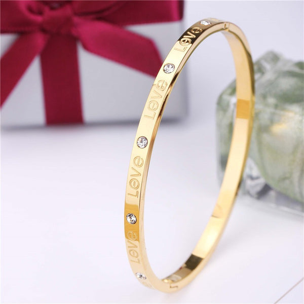 Stainless Steel Love Bangle - 50% OFF