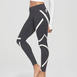 Striped Black & White Fitness Leggings