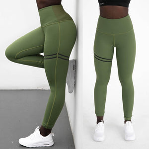 High Elastic Green Fitness Leggings