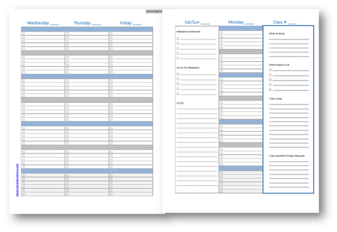 challenge planner tuesday