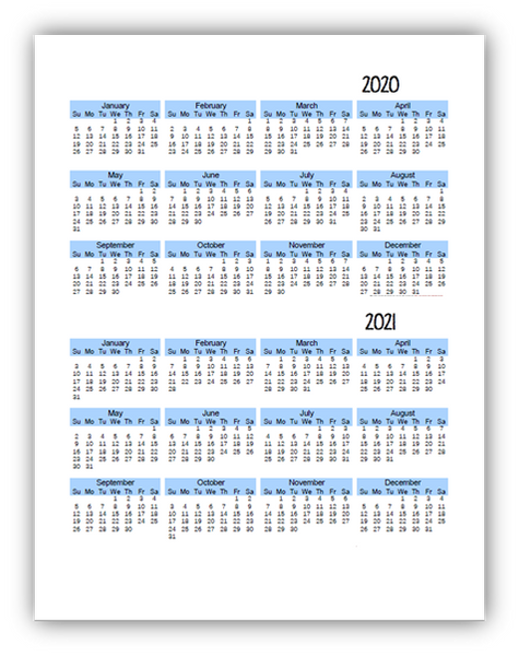 2020-2021 Student Planner - 6 Subject - Green or Blue - EDITABLE (INSTANT DOWNLOAD)