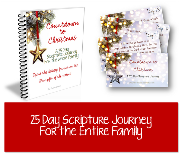 Countdown to Christmas - Family Scripture  - BUNDLE (INSTANT DOWNLOAD)