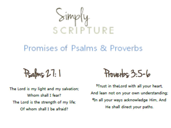 Simply Scripture Promises of Psalms & Proverbs - Memory Cards - (INSTANT DOWNLOAD)
