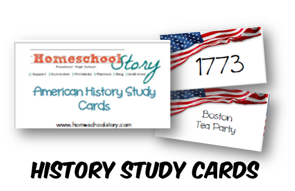 History - US History Study Cards (INSTANT DOWNLOAD)