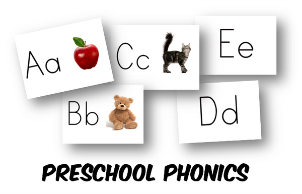Preschool Alphabet Learning Cards (INSTANT DOWNLOAD)