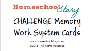 CC CHALLENGE Memory Work System Cards - (PRINTED/LAMINATED)