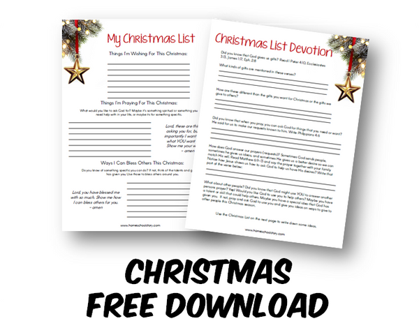 Christmas List Devotion (FREE DOWNLOAD)