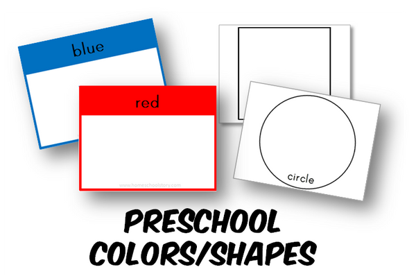 Preschool Colors and Shapes Cards (INSTANT DOWNLOAD)