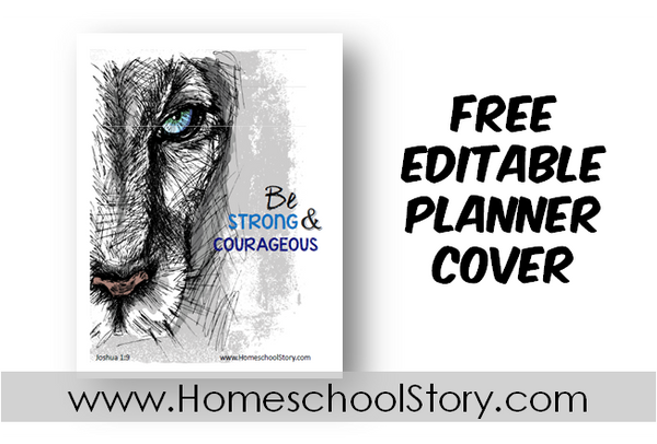 "Student Planner Cover EDITABLE ""Lion""  (FREE DOWNLOAD)"