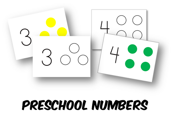 Preschool Number Counting Cards (INSTANT DOWNLOAD)