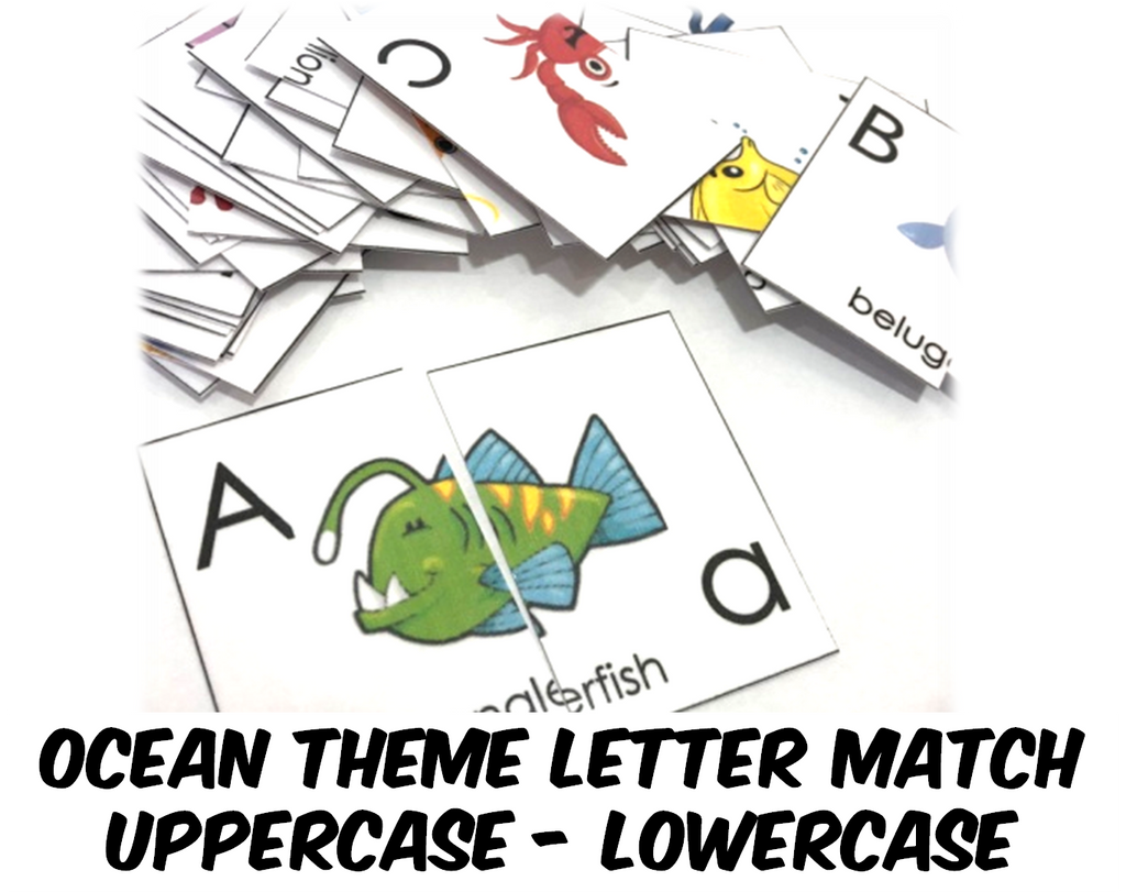 Preschool Ocean Alphabet Letter Match -PDF (INSTANT DOWNLOAD)