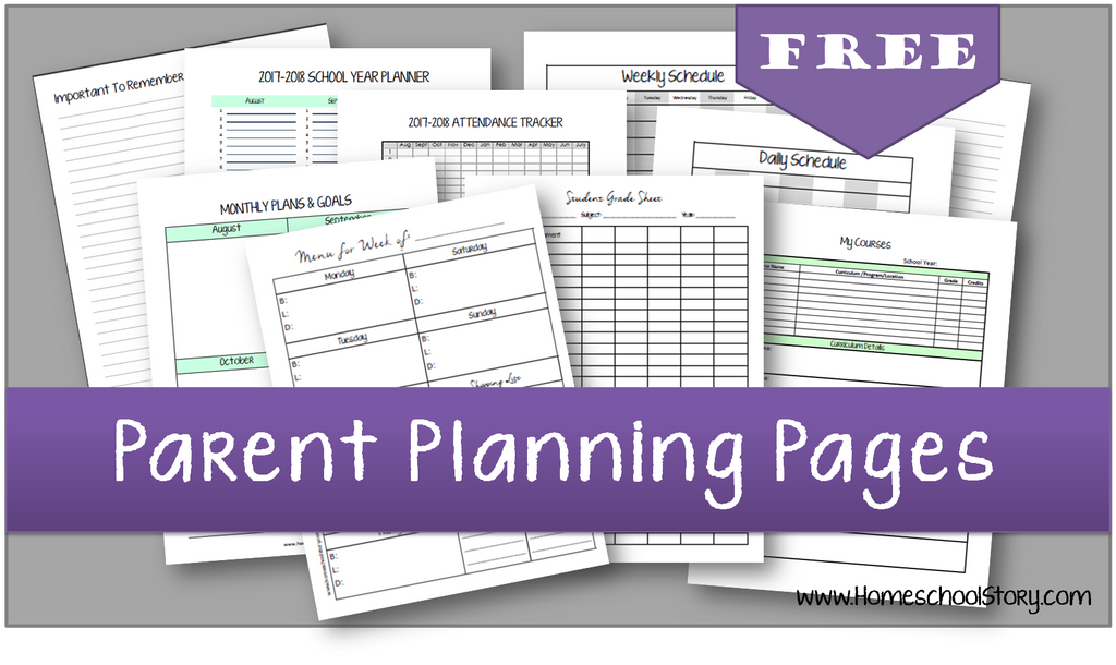 2019 2020 Parent Planning Pages Create Your Own Planner