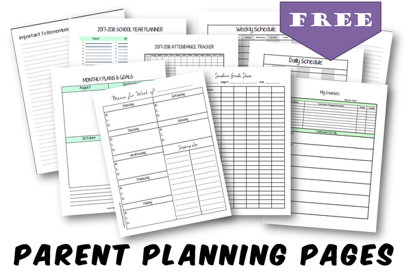 Parent Planning Pages - Create Your Own Planner - (INSTANT DOWNLOAD)