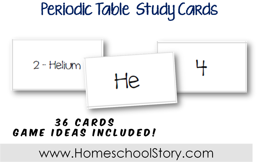 Science Periodic Table Study Cards Instant Download