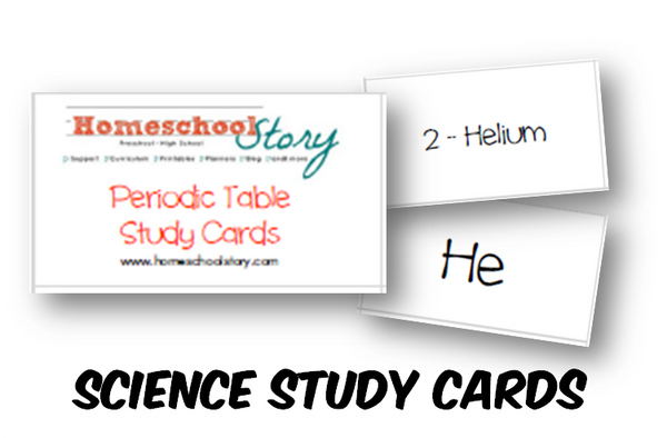 Science - Periodic Table Study Cards (INSTANT DOWNLOAD)