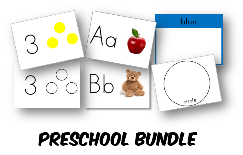Preschool Learning Kit - BUNDLE SET WITH BONUS (INSTANT DOWNLOAD)