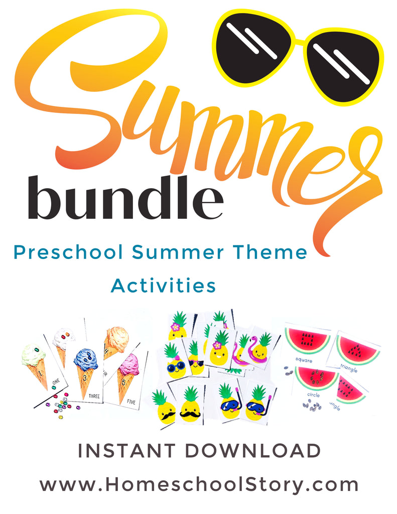Preschool Summer Bundle - INSTANT DOWNLOAD - Busy Bags
